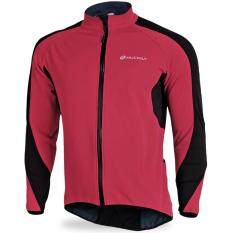 Qimiao Bersepeda Bulu Domba Termal Tahan Angin Jaket Outdoors Sport Kasual Naik Lengan Panjang Jersey Warna: Merah Ukuran: L