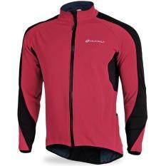 Qimiao Bersepeda Bulu Domba Termal Tahan Angin Jaket Outdoors Sport Kasual Naik Lengan Panjang Jersey Warna: Merah Ukuran: XL