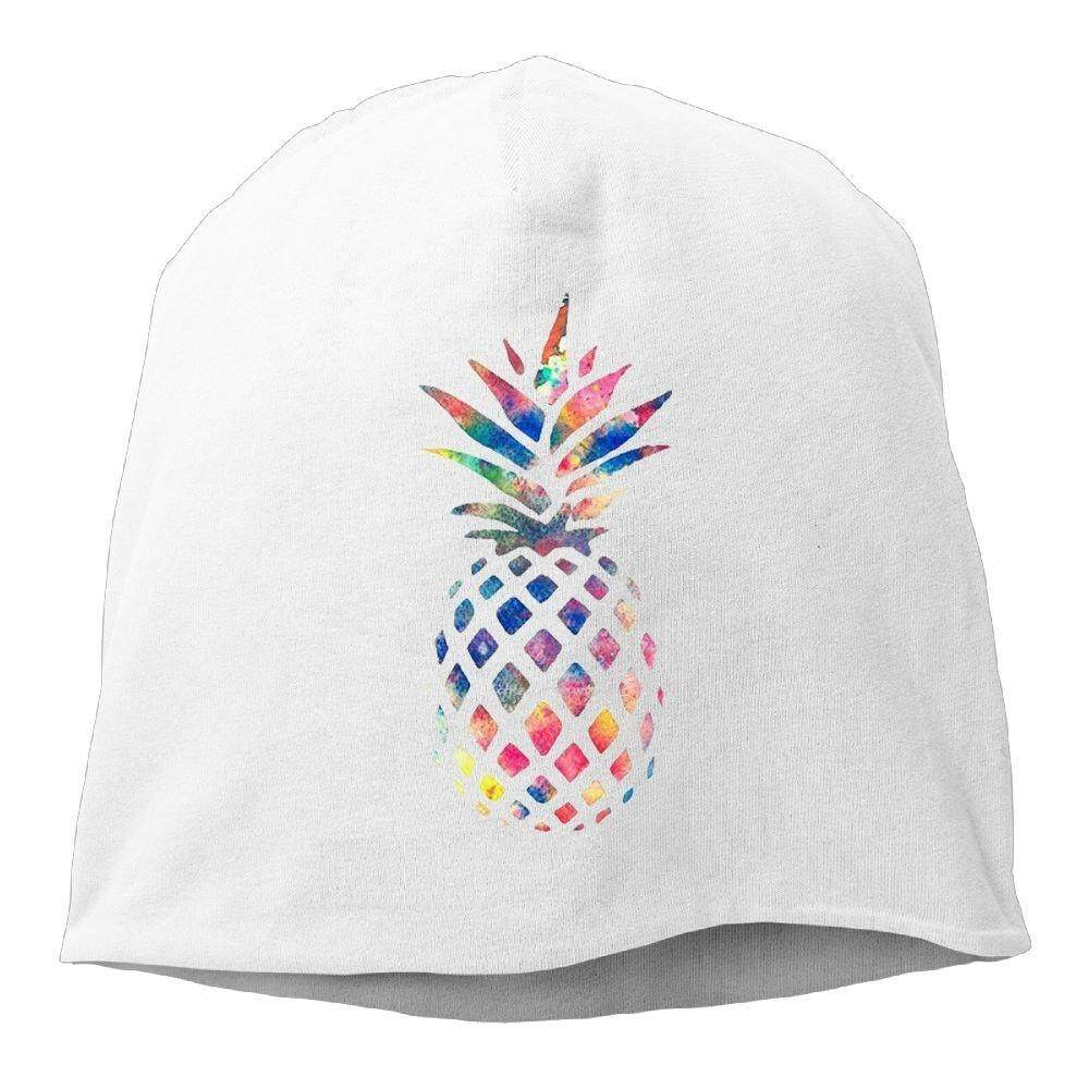 Dmn Fashion Warna Solid Huruf Emas G Beanie Topi untuk Unisex Putih Satu Ukuran-Intl