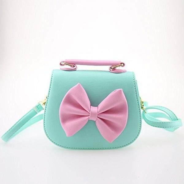Dodocat Super Cute 3D Design Blue Bowknot Messenger Bag Kids Shoulder Bag Crossbody Handbag - intl