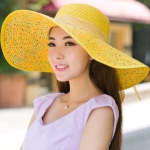 4bfa0f57ccede Fancyqube Elegant Fashion Seaside Sun Visor Hat Female Summer Sun Hats For Women  Large Brim Straw Sun Hat Folding Beach Girls Blue - intl