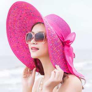 07636e40ae2cb Fancyqube Elegant Fashion Seaside Sun Visor Hat Female Summer Sun Hats For Women  Large Brim Straw Sun Hat Folding Beach Girls Bgige - intl