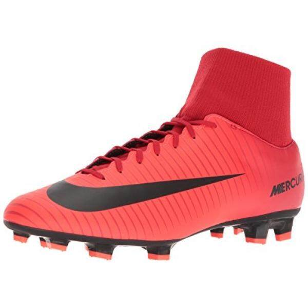 From USA NIKE Mens Mercurial Victory VI DF FG University/Red/Black Soccer Cleat en US - intl