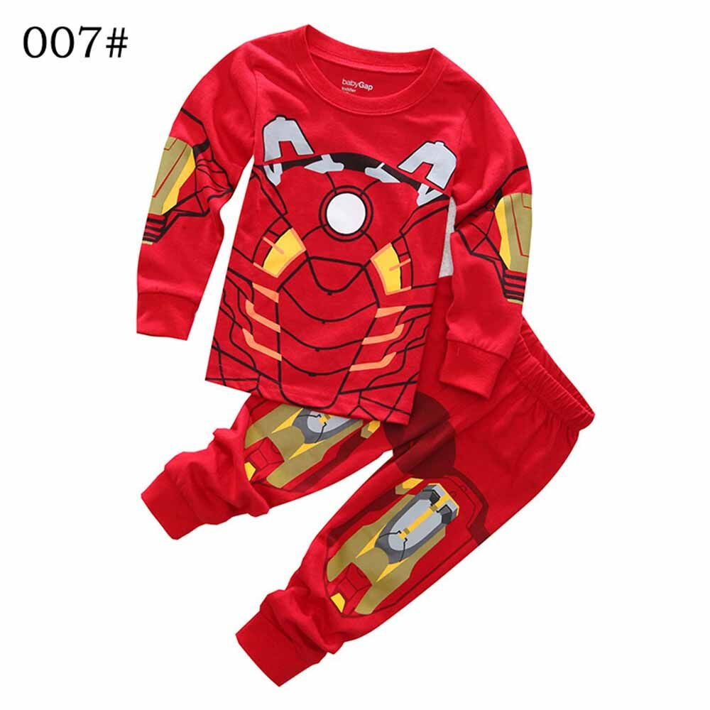 Kids Clothing Set 2-7 Years Boy Iron Man Pyjama Fille Enfant Children Captain America Vetement Pijama Menino Boys Sleepwear - Intl By Yearkey.
