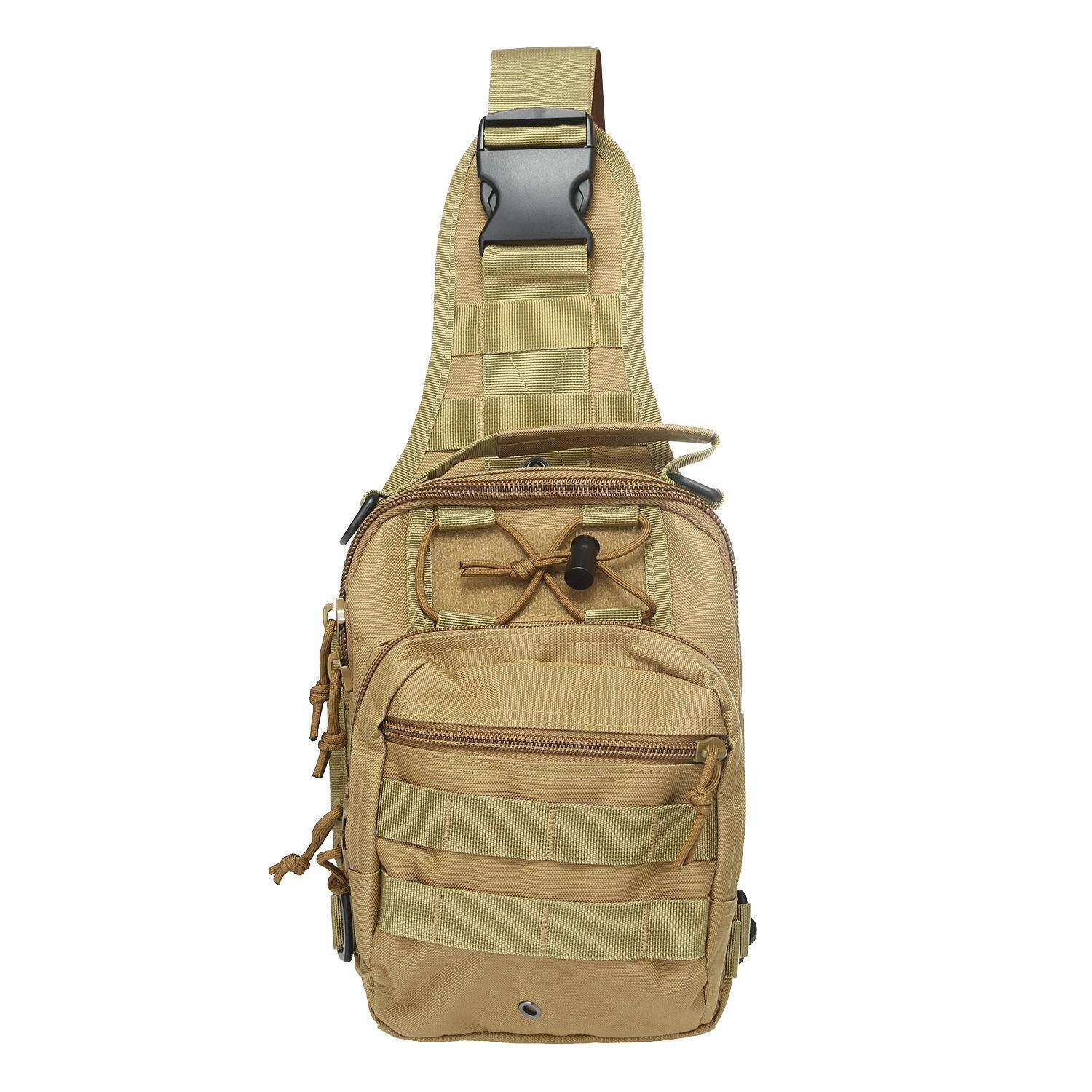 Kobwa Outdoor Tactical Backpack, Canvas Shoulder Sling Backpack Chest Deployment Bags For Camping,hiking,trekking,rover Sling Pack Chest Pack- Khaki - Intl By Kobwa Direct.