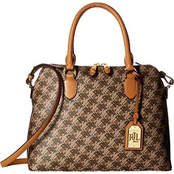 426ea6cda9 LAUREN Ralph Lauren Womens Dobson Dome Satchel Brown Handbag - intl