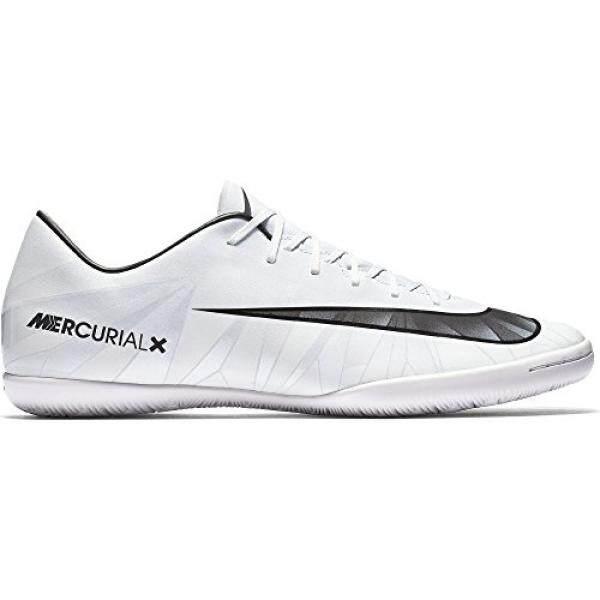 Pria Nike MERCURIALX VICTORY VI CR7 Dalam Sepak Bola Cleat Warna Biru/Hitam/Putih M Sebagai-Internasional