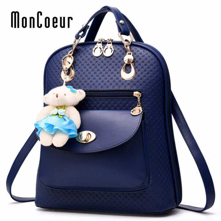 Moncoeur  Korean Fashion Trends Cute Backpack Blue