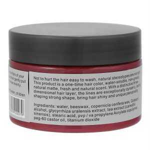 Hình thu nhỏ sản phẩm Natural Hairstyle Coloring Wax Disposal Styling Cream for Men Women Red