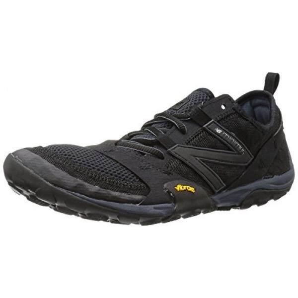 Keseimbangan Baru Mens MT10V1 Minimus Trail Running Shoe, Black/Silver, 9.5 D KAMI-Internasional
