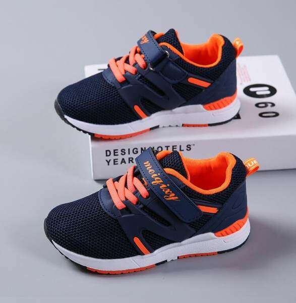 New Boys Girls Mesh Sneakers Children Shoes Breathable Running Shoes For Kids Flats Sports Footwear Star Fashion ...