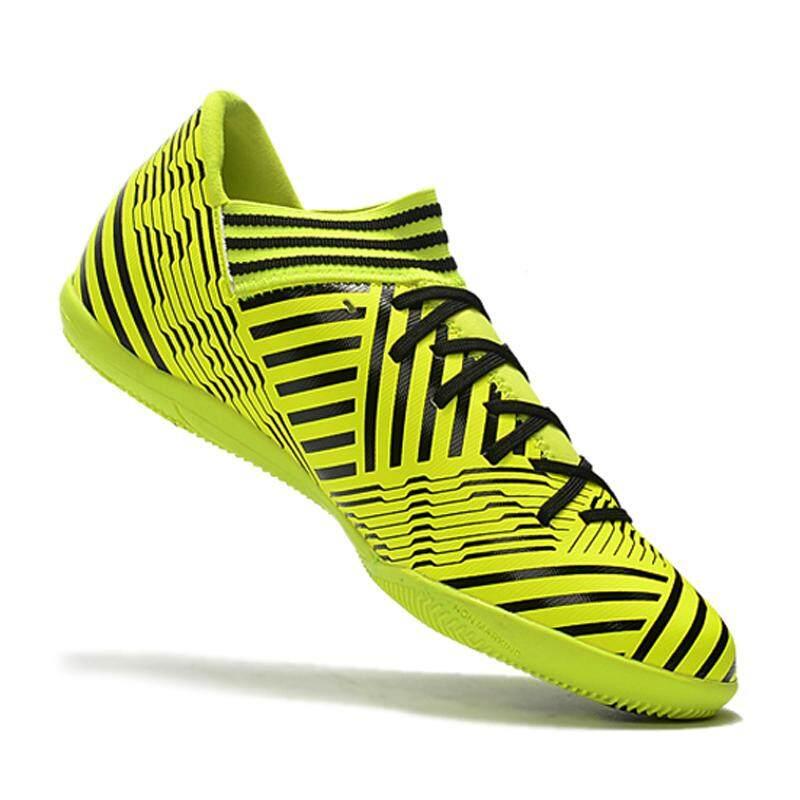 Baru Sepatu Sepak Bola Indoor Flat Bottom Pria Nemeziz Tango 17.3 IC Football Sepatu Fashion Soccer Cleat Sepatu Olahraga sneakers Kuning-Intl