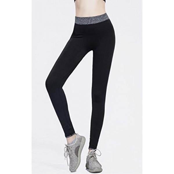Olacia Wanita Poliester Legging Keringat Celana Yoga untuk Wanita Tinggi Pinggang Hitam Capri Legging Spandeks Kerja Plus Ukuran Latihan Pakaian celana Wanita Bernapas Gimnasium Atletik Olahraga Menjalankan Pants-DJ004A-Internasional