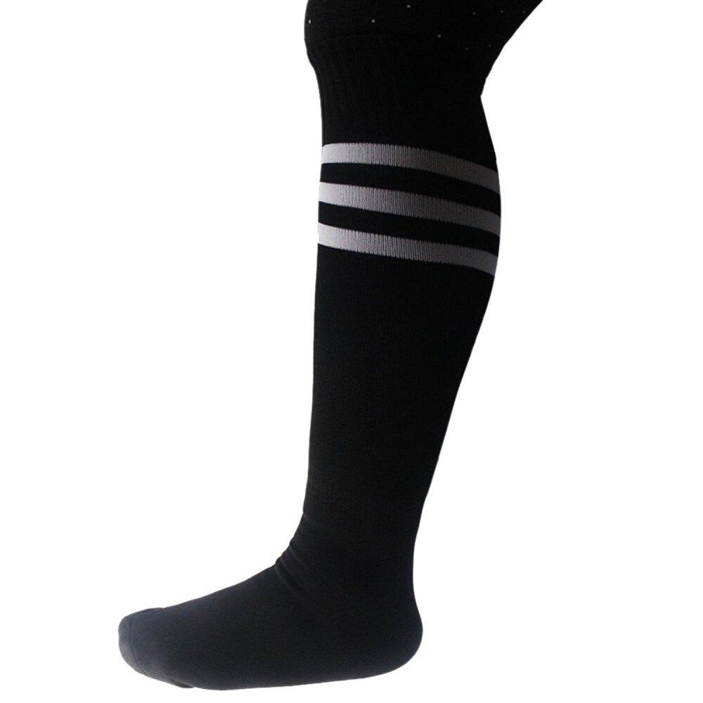 DL Lama Putih Di Atas Hitam Setinggi Lutut untuk Olahraga Atletik Tabung Kaus Kaki/Bagus untuk Sepak Bola atau Olahraga Apapun, juga Membuat Boot Yang Bagus-Internasional
