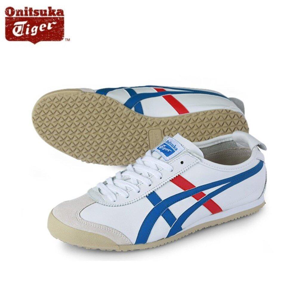 the latest 0c8dd 6100f Onitsuka Tiger Mexico66 White / Blue DL408_0146 100% Original