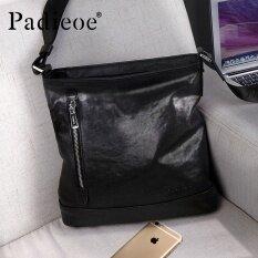 820c8bad008 Padieoe High Quality New Business Men Shoulder Messenger Bag Genuine  Leather Crossbody Bag Zipper Front Pocket