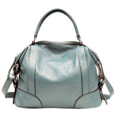 Pasta Womens Desain Sederhana Solf Kulit Lady Tote Bag Asli Kulit Sapi Online Women Handbags Beige-Intl