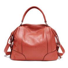 Pasta Womens Desain Sederhana Solf Kulit Lady Tote Bag Asli Kulit Sapi Online Women Handbags Beige (Warna: C4) -Intl