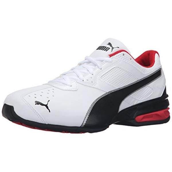 PUMA Mens Tazon 6 FM Puma White Puma Black Puma Silver Running Shoe 13 D(M) US intl