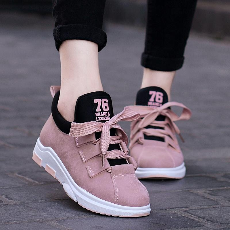 Running Shoes For Outdoor Comfortable Women Sneakers Breathable Sport Shoes Size 35-40 (Pink