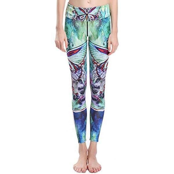 Suster Amy Wanita Digital Dicetak Menjalankan Yoga Celana Legging Yoga Flowrer Dragonfly L-Internasional