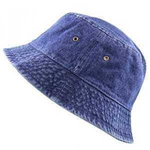 Hình thu nhỏ sản phẩm The Hat Depot High Quality Washed Cotton Denim Bucket  Hat ( fa93fc141bb