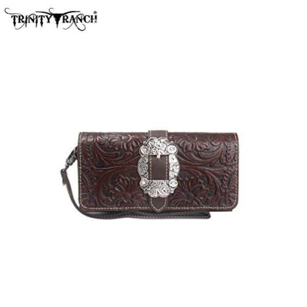 TR11-W002 Trinity Ranch Tooled Collection Wallet - intl