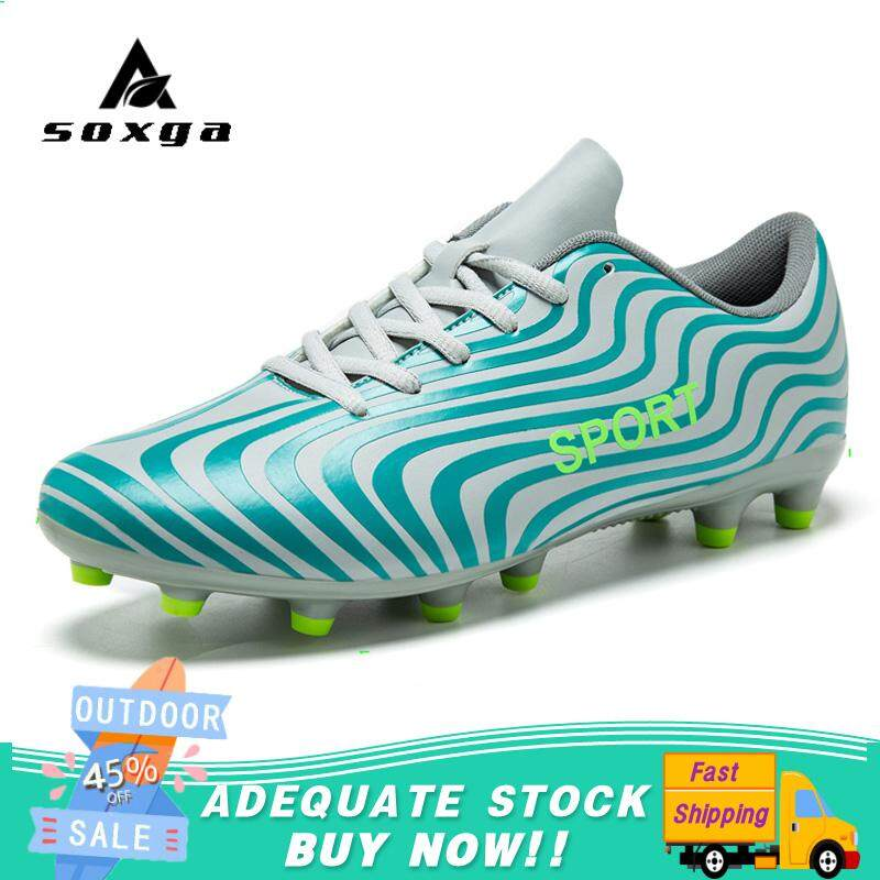 97eb6507c SOXGA New Football Boots Soccer Shoes Men Football Shoes For Sale Kids  Cleats Indoor Soccer Shoes Black  Free Shipping