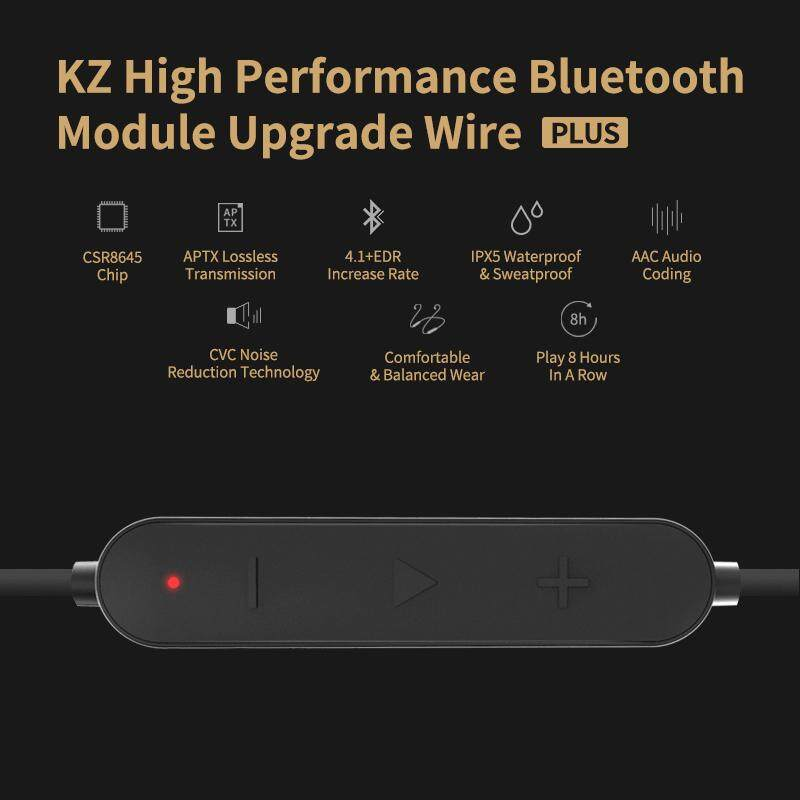 KZ Waterproof Aptx Bluetooth Module 4.2 Wireless Upgrade Cable Cord Z Upgrade Module Wire With 2PIN/MMCX Connector For Original KZ Earphone ZSN ZSNPRO ZS10PRO AS06 AS16 ZST ZS10 ZSTPRO ES3 ES4 AS10 BA10 ZS6 ZS5 ZS4 ZS3 Headphones