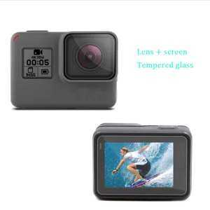 Hình thu nhỏ sản phẩm For Gopro Hero 6/5 Screen Protector / Lens Protect 9H Hardness Tempered Glass Free Shipping Ministar