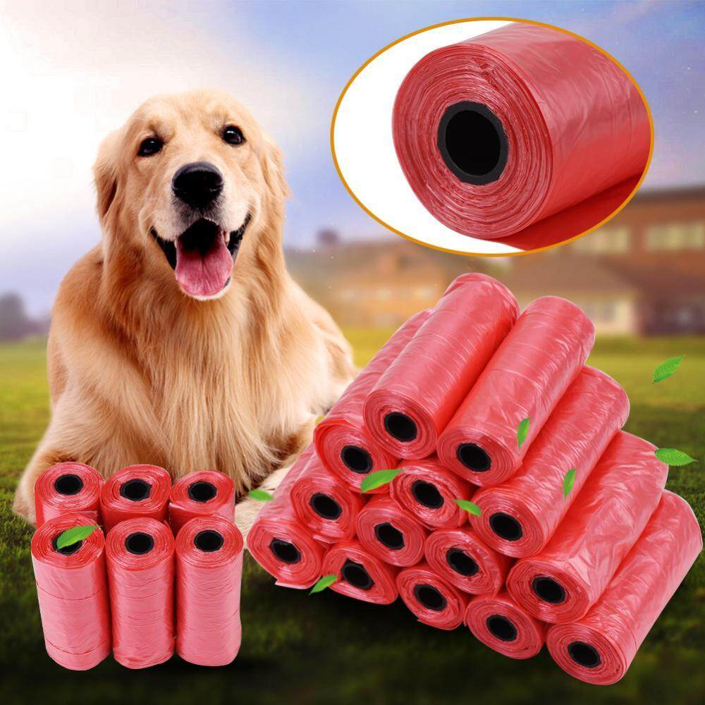 20 Rolls Dog Garbage Bag Poo Bag Trash Garbage Bags Cat Pets Waste Collection Bag Red - Intl By Rongshida.