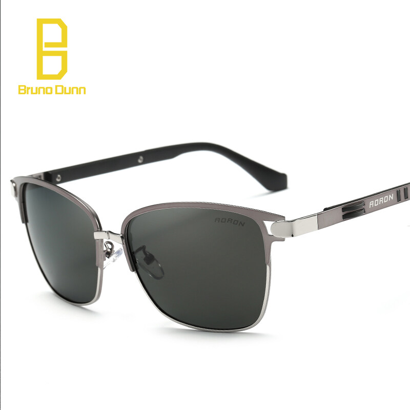 d3c551f4fc BRUNO DUNN 2019 New Fashion Titanium unisex women Polarized Sunglasses Man  Large Frame Brand Designer Retro
