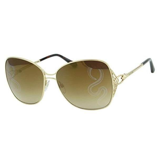 33cb343702 2018 Roberto Cavalli Gambassi RC-1060 Women Square Gold Metal Snake Mirror  Sunglasses - intl