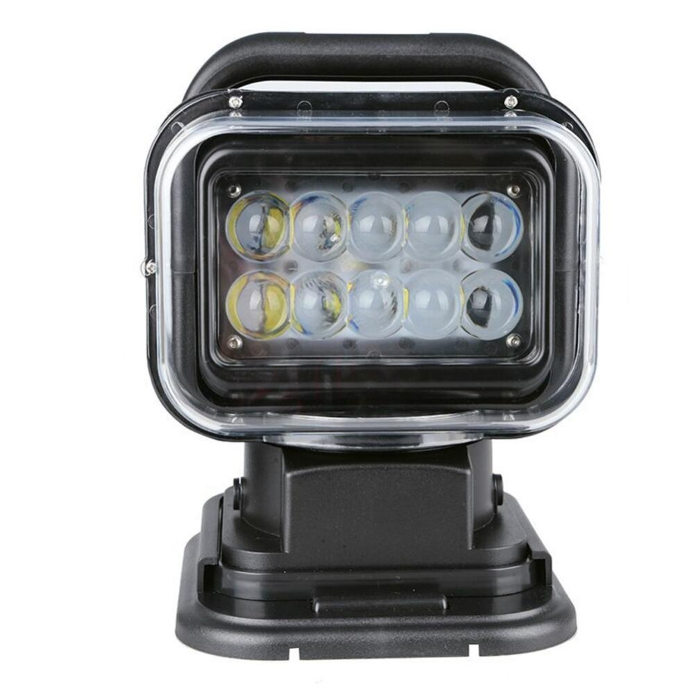 360 degree Rotating 50W Cree Led Search Light Remote Control Spot Work Light For Hummer Jeep And Other Off-road Vehicles or Trucks Boat (black) - intl