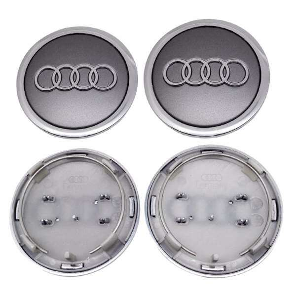 Pcsset Car Emblem Wheel Hub Caps Center Cover Caps In Grey Color - Audi car emblem