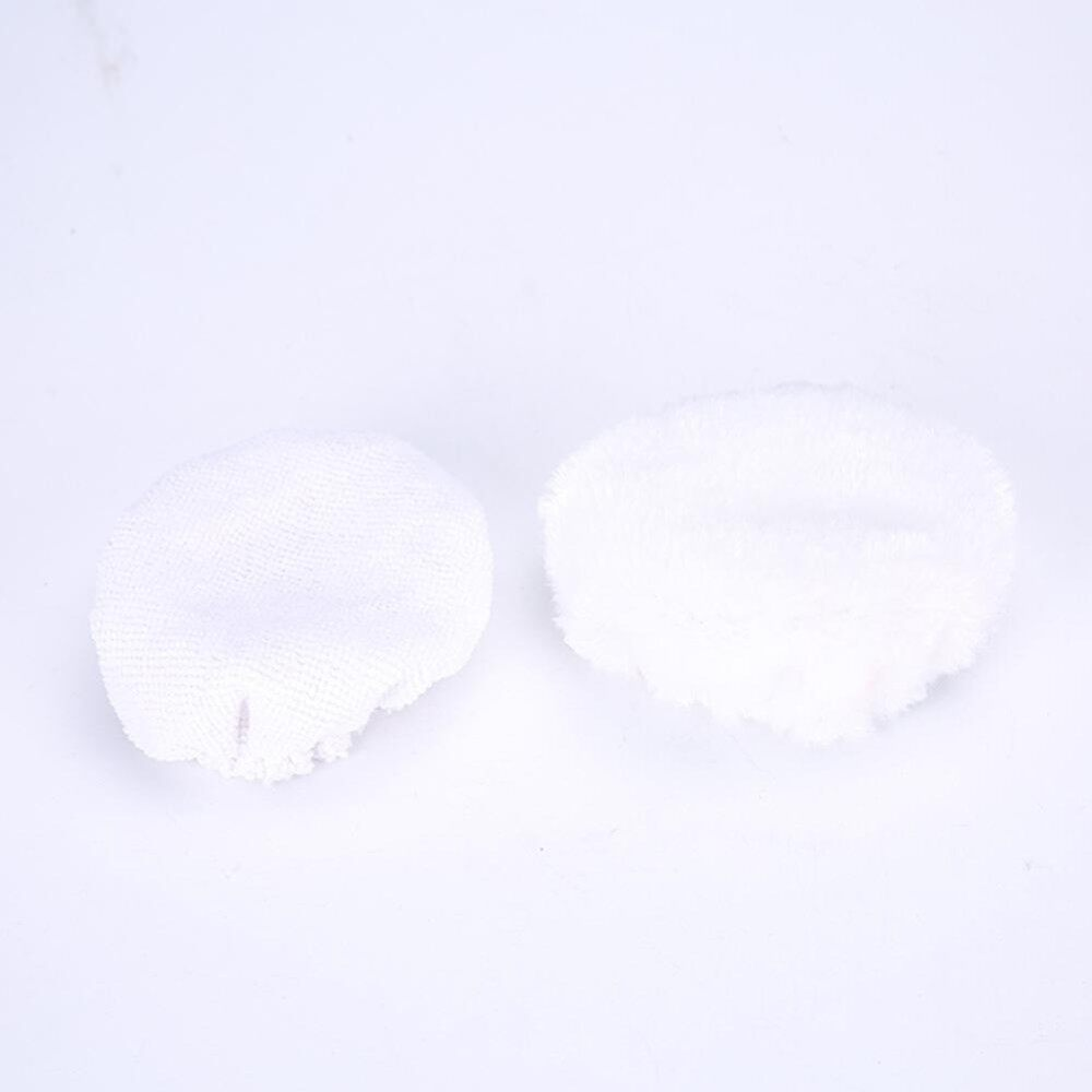 5 inch Car Care Tools, 2pcs Wax-polishing Machine Cover Pads Microfiber Bonnets for