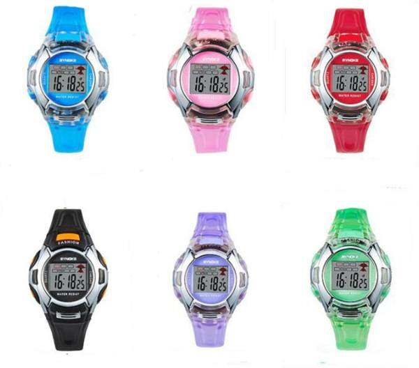 Hình thu nhỏ sản phẩm KANGSAIER Cute kid watch Aluo The Newest Synoke Kids Watch men luminous watches and waterproof children student purple watches women
