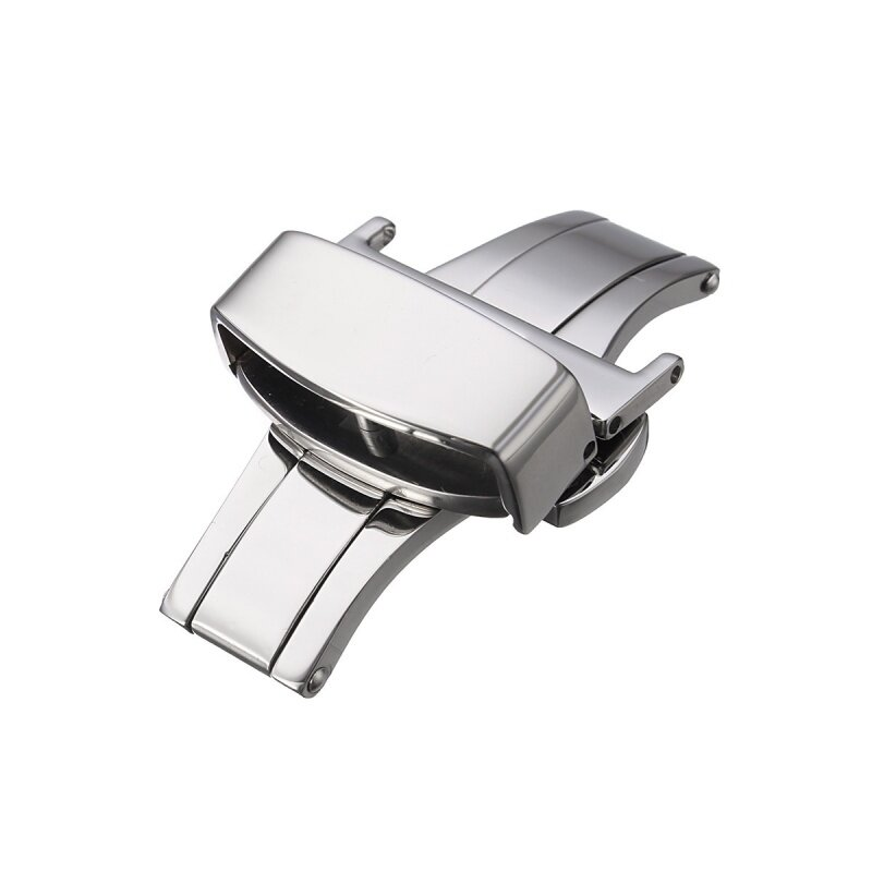 Automatic Double Click Butterfly Buckle Watch Push Button Fold Deployment Watchband Clasp Strap Buckles 20mm Malaysia