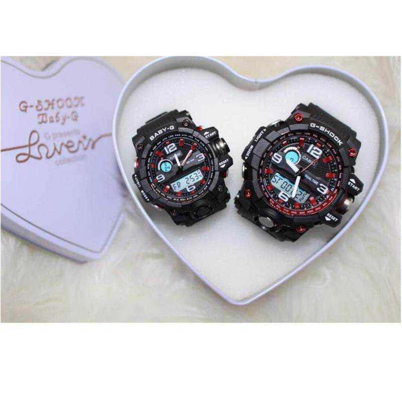 Black G Shock & BabyG Couple Set Malaysia