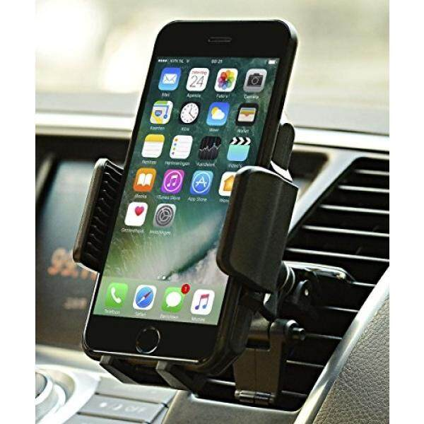 Car Mount, JAMRON Twist-lock Air Vent Car Mount Holder with Quick Release Button and Kickstand for iPhone X/8 8 Plus/ 7 7 Plus/ 6s Plus/6s/6,Samsung Lg Sony and Other Android Phones - intl