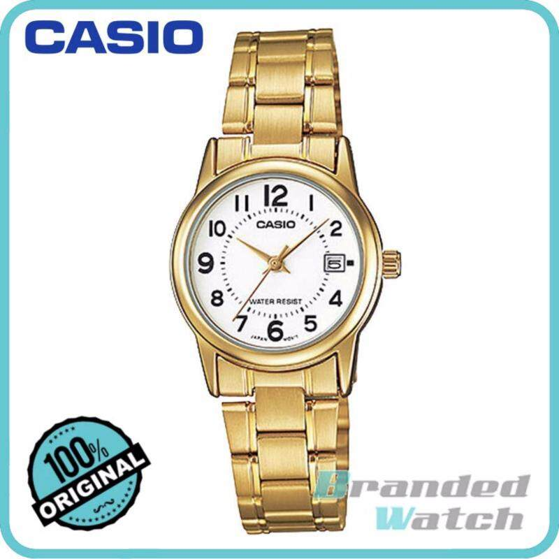 Casio LTP-V002G-7BUDF Womens Analog Date Gold Watch LTP-V002G-7B Malaysia