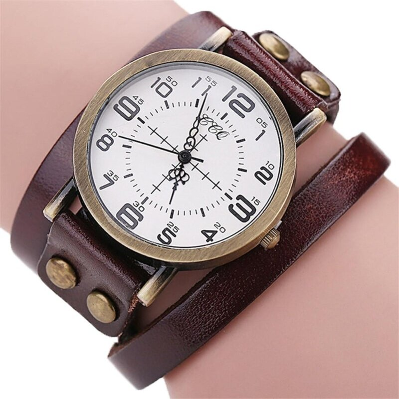 CCQ Brand Vintage Cow Leather Bracelet Watch Men Women Wristwatch Quartz BW Malaysia