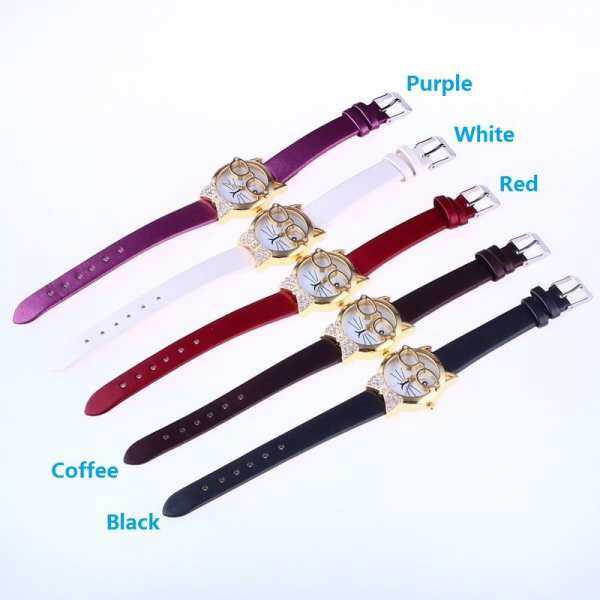 Hình thu nhỏ sản phẩm BAOXIN JS Cute kid watch Children Kids Dianond Cartoon Purple Student Band Watches Leather Cute