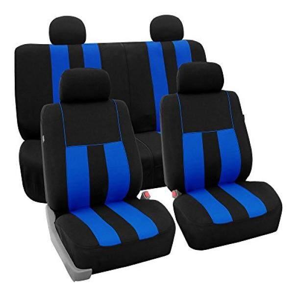 [Keren Kursi] FH Group Kain Penuh Set Kursi Meliputi (Airbag & Split) biru/Hitam-Sesuai Paling Mobil, Truk, SUV, atau Van-Internasional