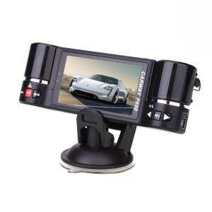 "F600 2.7"" HD 1080P Dual Lens Cars Vehicle Rear View Auto Data Recorder Camera - intl"