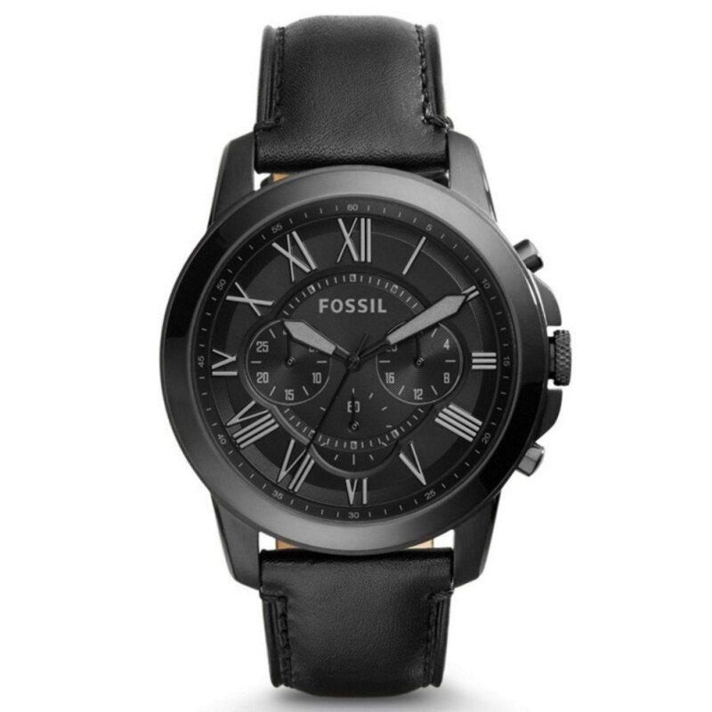 Fossil Men Grant Chronograph Black Leather Watch FS5132 Malaysia