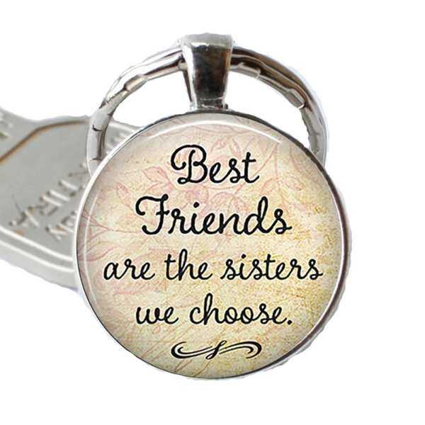 Hình thu nhỏ sản phẩm Friendship Key Chains Best Keychain Pendant Friends Quote
