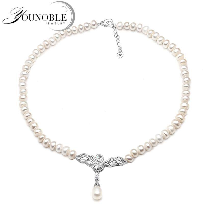 81d531868cf Genuine Freshwater pearl choker necklace women,Fashion natural pendant  necklace girls jewelry white wedding gift
