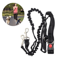 Hands Free Running Dog Lead, Adjustable Waist Belt Perfect For Jogging Hiking Walking, Dog Lead Leash Bungee Harness For Running By Eshopdeal.