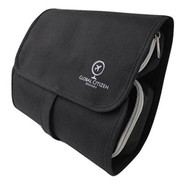 a79946f50483 Hanging Travel Toiletry Bag For Men, Women - Compact, Keeps You Organized,  Leak